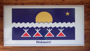 The Wekweeti flag
